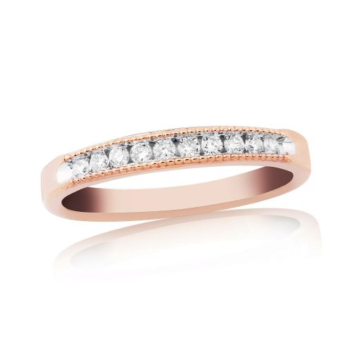Rose Gold Diamond Channel Set | Eternity Ring | DR1305R